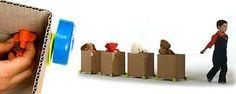 trenes con cajas de carton - Buscar con Google