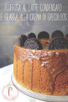 Fluffosa al Latte Condensato e Glassa alla Crema Speculoos @ifoodit #fluffycake