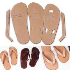 WUTA 726 Clear Acrylic template for DIY Men Flops Unisex Slipper Shoes Leather Template Set Craft Pattern Model Leather Slippers, Mens Slippers, Leather Sandals, Shoe Pattern, Leather Flip Flops, Flip Flop Shoes, How To Make Shoes, Leather Projects, Leather Craft