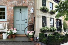 Door with pretty flowers