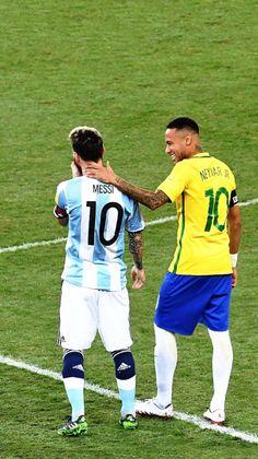 Messi e Neymar - Brasil x Argentina Neymar E Messi, Messi 10, Champions League, Samba, Do Love Spells Work, Fc Barcalona, Cast A Love Spell, Bring Back Lost Lover, Strong Love