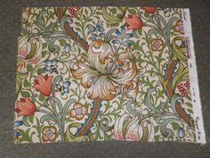Sanderson-Linen-Union-Fabric-Offcut-Golden-Lily-William-Morris