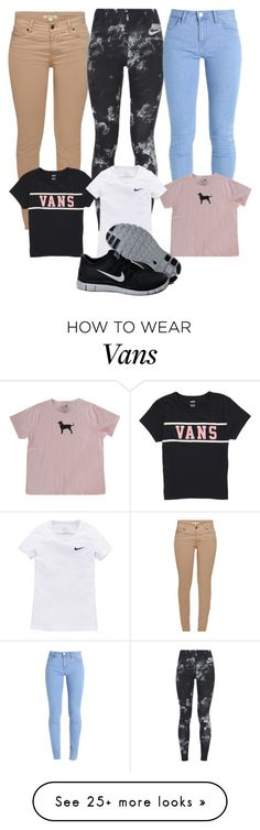 """How to style: Black Free Runs"" by peacemisfit10 on Polyvore featuring Barbour, NIKE, Vans, school, nike, Howtostyle and freeruns"