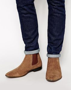 The Best Men's Shoes And Footwear : Chelsea Boots in Suede - Fashion Inspire Me Too Shoes, Men's Shoes, Shoe Boots, Dress Shoes, Mens Suede Boots, Leather Boots, Fashion Shoes, Mens Fashion, Mens Designer Shoes