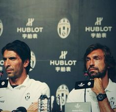 The legends, Pirlo and Buffon