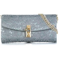 Dolce & Gabbana 'Dolce' clutch (23.314.945 IDR) ❤ liked on Polyvore featuring bags, handbags, clutches, grey, gray handbags, floral print purse, dolce gabbana handbags, beaded clutches and beaded purse