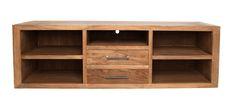 Mueble de television de madera de Olmo con cajones  Medida 160L X 40F X 45h Disponible en otros acabados