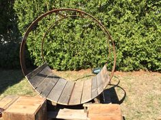 Local Reclaimed Wood Swing | Metal Wagon Wheel Work | Home Decor | Business  Design |