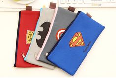 Super America Hero Pencilcase Pen Bag Holder Canvas Flat Coin Purse Wallet Card Storage Stationery School Supplies Student Gift
