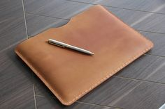 iPad pro 10.5 sleeve , made to fit exactly ipad pro 10.5, you can select with case or with keyboard to have it bigger and able to fit. Handmade and hand stitched ,Perfect gift for Women and Men *** if your order is iPad pro or Surface , please mention if you want to use it with keyboard , default size is without keyboard Made from Oil tanned cow leather , handstitched in extremely durable saddle stitch with waxed thread {PERSONALIZATION INSTRUCTIONS} *** Please tell me your initials in…