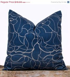 SALE ENDS SOON Blue Pillow Covers Indigo Blue by LilyPillow, $14.40