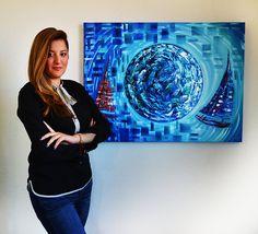 Nautical Painting by the artist Laelanie Larach | Contemporary original fine art | Miami based artist