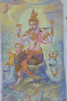 See clearly the exquisite pictures. The scene decorated with Rama 9 Royal Mortuary (image gallery) Thailand Tattoo, Thailand Art, Mural Painting, Artist Painting, Cambodian Art, Tanjore Painting, Asian Tattoos, Buddha Art, Thai Art