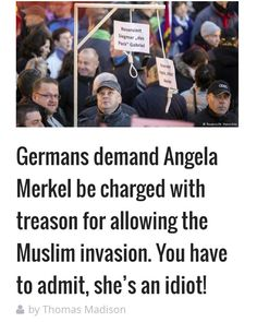 Looks like the people in Europe are waking up.  #Islam #islamIsEvil #invasion…