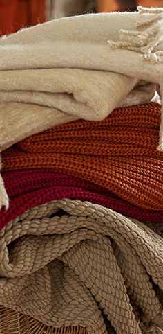winter is coming....it's nice to have some cozy throws to snuggle with on the cold evening.
