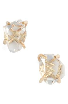 Free shipping and returns on Melissa Joy Manning Herkimer Stud Earrings at Nordstrom.com. Gleaming, responsibly recycled gold or silver harbors beautiful pieces of quartz crystal, adding a sense of bohemian mystery to these handmade stud earrings.