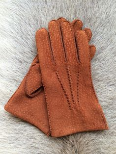 Crochet Driving Leather Gloves for Men/'s Luxury Carpincho Leather Suede Peccary Handmade