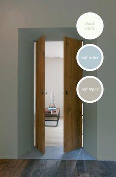 Interieur muur kleuren on pinterest vans wands and cuddle couch - Grijze muur deco ...