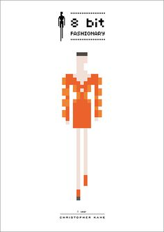 Christopher Kane. 8 bit-fashionary pixel illustrations from the 2011 & 2010 seasons.