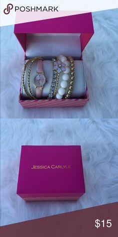 Watch and bracelet set Watch and bracelet set. Super cute accessory set Jessica Carlyle Jewelry Bracelets