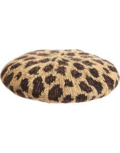 Eugenia Kim Evelyn Beret in leopard