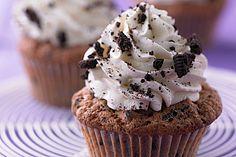 Oreo Cupcakes mit Oreos und Schokolade