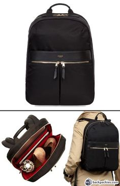 Knomo Beauchamp business backpack for women - The stylish and professional backpack for work - Learn more: https://backpackies.com/blog/best-womens-backpacks-for-work/#knomo