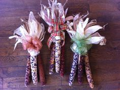 Shellynn has been bow making and assembling these beautiful Indian Corn decor, perfect for the front door!