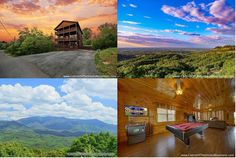 Some nice views of the Smokies from this cabin called 6 Suites Lodge - featured as part of a weekend Half-Price special. Click through for details. Smoky Mountain Cabin Rentals, Smoky Mountains Cabins, Great Smoky Mountains, Half Price, Nice View, National Parks, Vacation, Luxury, Bedroom