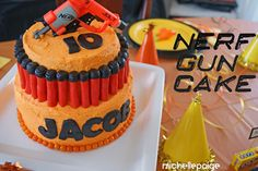 NERF war birthday party.   Must check link for all the details!! Wow.