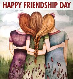 """""""Three Sisters Best Friends"""" by Claudia Tremblay Sisters Art, Three Sisters, Soul Sisters, Three Daughters, Sisters Forever, Friends Forever, Claudia Tremblay, Love My Sister, Happy Friendship Day"""