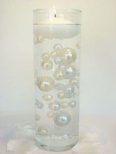 95 Jumbo & Assorted Sizes Ivory Pearls & White Pearls with Sparkling Gems Accents Pearls Vase Fillers Value Pack...NOT INCLUDING THE TRANSPARENT WATER GELS...FREE SHIPPING