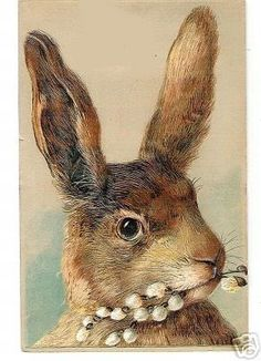 Vintage Rabbit art Easter