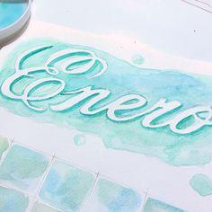 ¿Cómo combinar lettering y acuarelas?