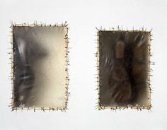 """""""Atrabiliarios,"""" detail, 1992-93. Shoes, animal fiber, and surgical thread, dimensions variable. Collection of The Pulitzer Foundation, St. Louis, Missouri. © Doris Salcedo. Courtesy the Alexander and Bonin, New York."""