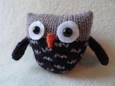 Speckled Owl  Toy  Knit by NolasKnits on Etsy, $11.00