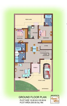Floor plans that explain each and every detail of your house for assisting construction process.  For more such plans visit - www.apnaghar.co.in
