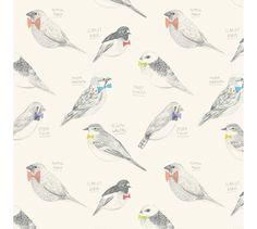 birds pattern // Amy Borrell