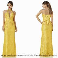 modelos vestidos de renda amarelo - Pesquisa Google