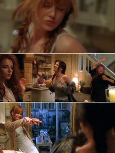 """In the """"midnight margaritas"""" scene in Practical Magic Nicole Kidman brought a bottle of tequila to warm up for the shoot. Kidman, Bullock, Channing, and Wiest were all tipsy for real. Nicole Kidman, Practical Magic Movie, Practical Magic Quotes, Movies Showing, Movies And Tv Shows, Margarita, Season Of The Witch, Film Serie, Actors"""