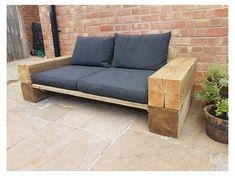 Garden Furniture Design, Wooden Garden Furniture, Outdoor Furniture Plans, Backyard Seating, Outdoor Seating Areas, Garden Seating, Modern Outdoor Sofas, Outdoor Couch, Outdoor Potting Bench