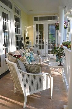 spring porch makeover, outdoor furniture, outdoor living, porches, Furniture by Hampton Bay