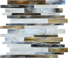 Baroque Corallo Random Strip Stained Glass #Mosaics #Tile - www.anatoliatile.com