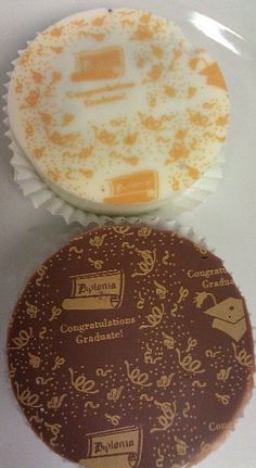 Graduation Chocolate Dipped Oreos by SuesSweetShop on Etsy, $19.00