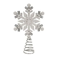 GE 12-in Clear Lighted Plastic Snowflake Christmas Tree Topper ...