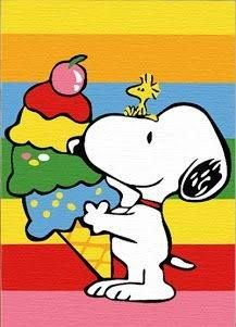 Snoopy and Woodstock With Giant Ice Cream Cone