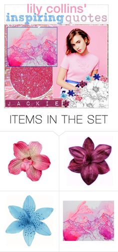 """""""*; lily collins' inspiring quotes by jackie"""" by celebrity-tippers ❤ liked on Polyvore featuring art and tipsbyJackie"""