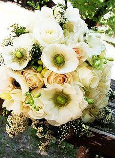 Bouquet Bridal: Anemone Bridal Bouquet Ideas