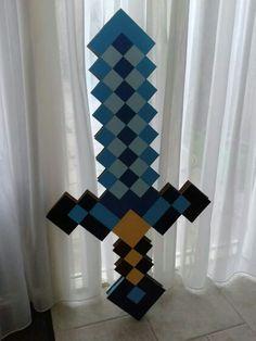 Minecraft zwaard surprise gemaakt voor een jongetje uit de klas van mijn zoon.
