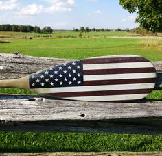 Vintage American Flag Paddle by Georgian Bay Tackle Co.
